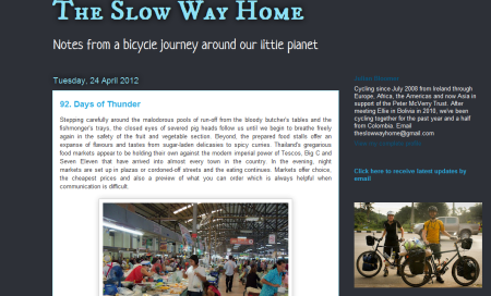 The Slow Way Home: Julian Bloomer on the road since 2008